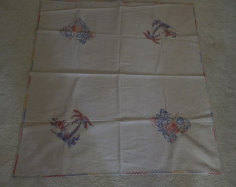 Southwest - Old Mission - Printed Muslin Table Cloth - Early 1940's