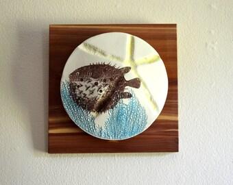 Puffer Fish Porcelain Wall Art