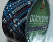 Duck Tape Roll Blue Plaid Very Rare and Discontinued Best Price on the Net