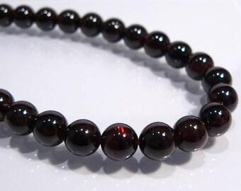 Garnet Smooth Round Gemstone Beads....8mm....6 Beads