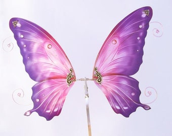 1/6 OOAK Butterfly wings for Dolls - Avatar - Purple Pink