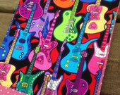 GUITAR Fabric-Covered Standard Size Composition Notebook