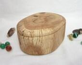 Oak Tree Branch Wood Box, wooden jewelry box, 5th wedding anniversary, wedding gift, office desk organizer, small urn, eco gift box
