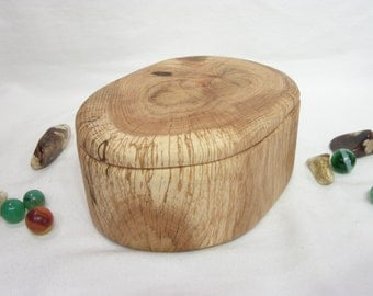 Oak Tree Branch Wood Box, wooden jewelry box, 5th wedding anniversary, wedding gift, office desk organizer, small urn, eco gift box