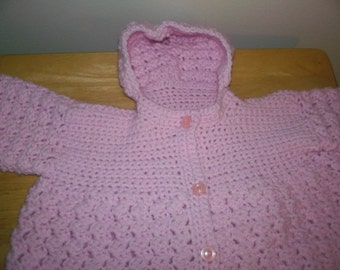 Crocheted baby bunting