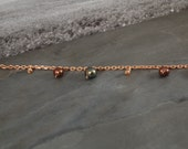 Tundra Flower Collection Chain Bracelet - Rose Gold - Pearl - One of a Kind