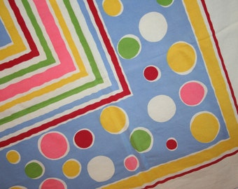 Vintage Tablecloth RARE Polka Dots & Stripes Wilendur?