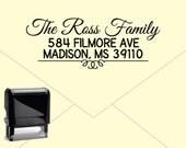 FREE US SHIPPING * Self Inking Return Address Stamp * Custom Address Rubber Stamp (E243)