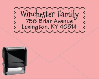 FREE US SHIPPING * Self Inking Return Address Stamp * Custom Address Rubber Stamp (E232)