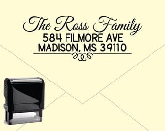 Self Inking Return Address Stamp * Custom Address Rubber Stamp (E243)