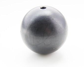 4pcs Wooden Beads-Round Polished Black 40mm (X-Large) (24800)