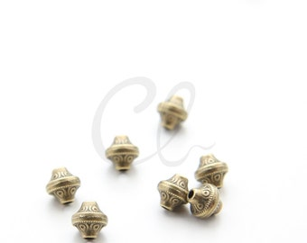 30pcs Antique Brass Tone Base Metal Spacers-7x8mm (2381X-J-246)