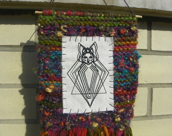 Egyptian Cat Mummy Knitted Wall Hanging