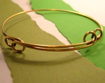Adjustable Bangle Bracelet in Gold Plating from Nunn Design