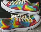 Adult sz 3-6.5  MADE to ORDER ... Tie-Dye Converse Sneakers   Lo Top