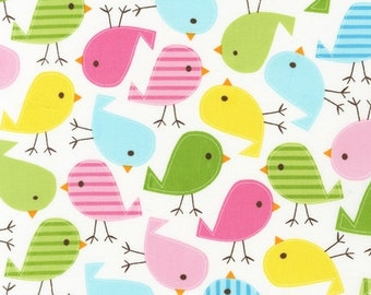 FABRIC BIRDIE BIRDIE by Robert Kaufman Urban Zoologie 1/2 yard