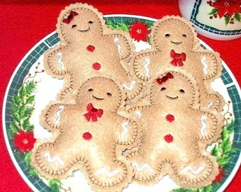 Boy And Girl Gingerbread  Cookies Set Of  2 dolls one boy and one girl #2512