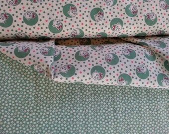 Marcus Bros. Aunt Grace retro kitty print and coordinate 1/2 yd of each