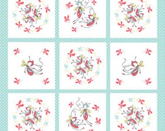 SALE!! Riley Blake Butterfly Dance - Baby quilt panel - by the yard