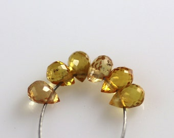 Faceted Sapphire Beads - Yellow - Sapphire Beads - Briolettes