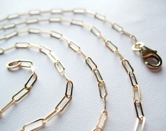 Flat Oval Link Chain...Gold Filled...Add a Pendant
