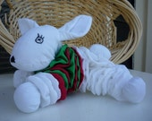 Yo Yo South Sydney rabbitohs mascot fabric quilt toy child friendly stuffed white bunny rabbit yoyo