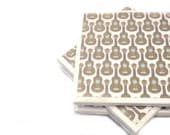 Tile Coasters - Guitars - Set of 4