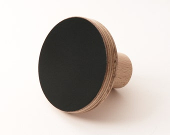 Wooden knob black color