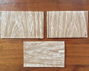 Light Woodgrain Oilcloth Wallet