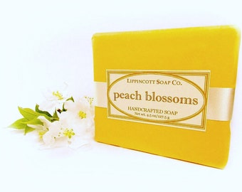 Peach Blossoms Soap - Cold Process Soap - Handmade Soap - Bar Soap - Phthalate Free Fragrance - Fruity and Floral Soap - Gift for Her