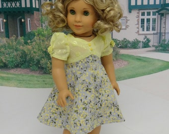 Lemon Blossoms - Vintage styled dress for American Girl