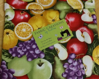 Mixed Fruit, Fruits, Apples, Grapes, Oranges - Microwave Baked Potato Bag - RTS