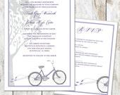 Bicycle Wedding Invitations - Vintage Bike Wedding Invitations - Sketch Bicycle Invitation - Rehearsal Invitation