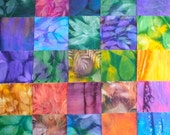 South African cotton fabric - 48 sun dyed squares