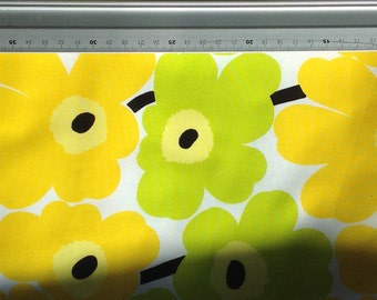 Yellow and lime pieni UNIKKO fabric piece