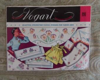 Vintage 1940's Vogart Transfer Patterns #191