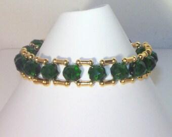 Swarovski Crystal Jewelry - Bridal or Birthstone Bracelet - Any Swarovski Color - Silver or Gold