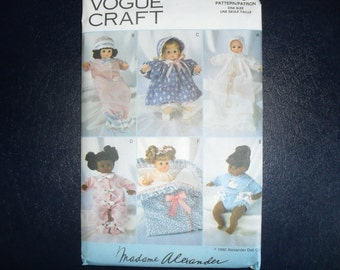 Madame Alexander Vintage Vogue 8495 pattern for 14 inch Dolls UnCut NOS