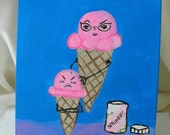 Lice cream sprinkles are the head lice of ice cream painting