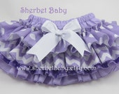 Classic Style Purple Mix of  Chevron & Polka Dots Sassy Pants 4 Ruffle Diaper Cover Bloomer Always Handmade
