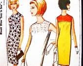 1960s Dress Pattern McCalls Misses size 10 12  Womens Sheath Dress Sleeveless Dress Pattern Easy to Sew Vintage Sewing Pattern