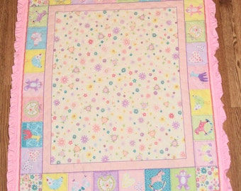 Pink Ruffled Baby Quilt