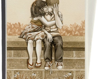 The Kiss Greeting Card by Tracy Lizotte