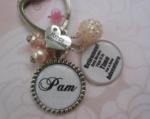 Personalized Women retirement keychain, retirement gifts in pink, blue and purple