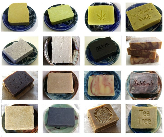 6 Handmade Soaps Natural Soap Set - Aquarian Bath - SLS Free Soap - Palm Free Soap - great gift for friends or coworkers