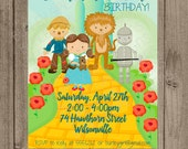 Wizard of Oz Birthday Party Invitation -- Digital File Only
