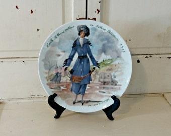 Collectible Plate | D'Arceau-Limoges Les Femmes Du Siecle Women of the Century 6th Plate Edith