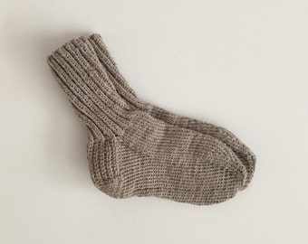 Heather oatmeal wool knit socks US women's size 7 - 9.5