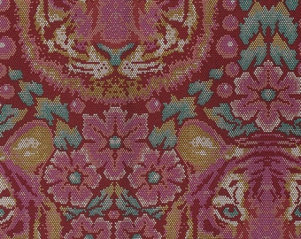 Eden Crouching Tiger Tourmaline - Tula Pink - Cotton Woven fabric by the yard