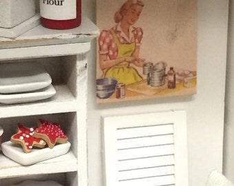 Miniature Dollhouse Vintage Picture -1:12 scale